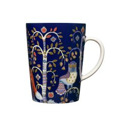 Taika muki l, sininen tai punainen Blue Dinnerware, Casual Dinnerware, Porcelain Mugs, Espresso Cups, Cappuccino Cups, Joss And Main, Folklore, Decorative Items, Tea Pots