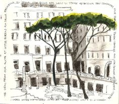 sketches of rooftops | Largo di Torre Argentina