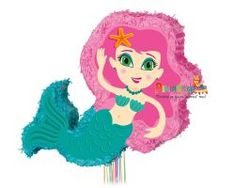Mermaid Pinata, Pinatas are so much fun! This pretty Mermaid shaped pinata is the perfect decoration and party game for an under the sea themed party Mermaid Pinata, Pretty Mermaids, Princess Peach, Disney Princess, Under The Sea, Party Games, Hot Wheels, Cinderella, Disney Characters