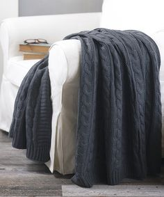 Look what I found on #zulily! Dark Gray Cable-Knit Throw by S.L. Home Fashions #zulilyfinds