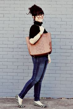 That Orla Kiely bag that Elsie is holding is to die for. Too bad it's like $345 ON SALE. Yup. I will never own that.