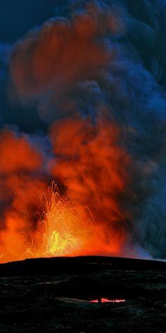 Volcano lava kilauea hawaii... More #nature #landscape pics at www.freecomputerdesktopwallpaper.com/wplacessixteen.shtml Thank you for viewing!
