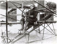 Blanche Stuart Scott was the first American woman to take a solo hop into the air, although her flight is not regarded as official. Always interested in a challenge, Scott became the first woman to drive an automobile coast to coast in 1910