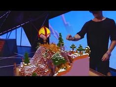 Microsoft HoloLens Minecraft Gameplay HD - E3 2015 (Augmented Reality) - YouTube