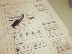 UI & Wireframe Sketches for your Inspiration - www.eewee.fr