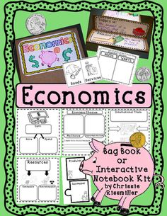 Economics Bag Book/Interactive Notebook Kit from Chrissie Rissmiller on TeachersNotebook.com (30 pages)