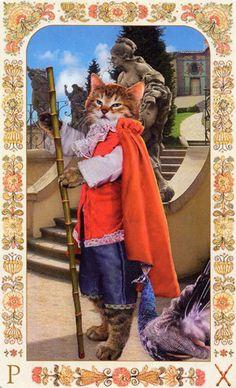 Baroque Bohemian Cats Tarot - Page of Wands