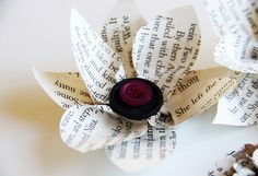 book page flowers, gift tags, garlands, envelopes, ornaments and gift wrap