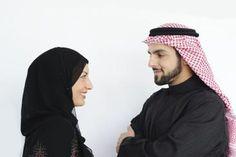 Muslim wife and husband.