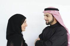 Muslim wife and husband.