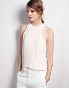 Protagonist Tank 01 - Curve Tank - Silk Crepe / Flush Tank, must make, what bra do you wear?