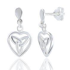 DTPsilver - 925 Sterling Silver Earrings Celtic Tree of Life Design 5K46ts