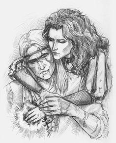 Yennefer and Geralt by NastyaKulakovskaya