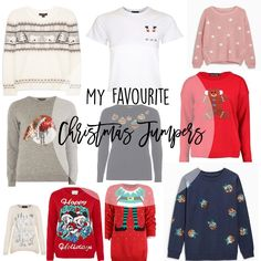 Lust List: My Seasonal Jumpers Pick   Unfortunately I can't really partake in the Christmas jumper festivities this year because the ones available in maternity sizes are terrible! Topshop take note! But these have been my absolute favourites so far. 01.Polar Bear Fairisle JumperfromPrimark 02.Santa Pocket T-shirtfromTopshop 03.Pink Embroidered Snowflake Christmas JumperfromNext 04.Grey Sequin Robin JumperfromDorothy Perkins 05.Navy Embellished Bauble JumperfromDorothy Perkins 06.Brave Soul…