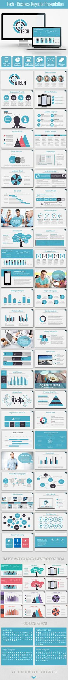 Tech - Business Keynote Presentation Template #slides #design Download: http://graphicriver.net/item/tech-business-keynote-presentation/13461600?ref=ksioks