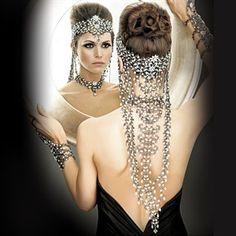 Parisian couture headpiece. This + a vintage black dress + heels = magnificent.