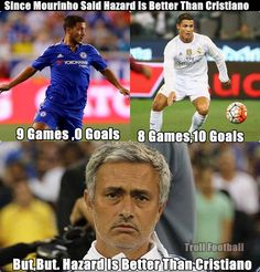 Sorry Jose, But Cristiano Ronaldo is on another Level! Funny Football Memes, Sports Memes, Volleyball Funny, Cristiano Ronaldo Quotes, Messi Vs Ronaldo, Play Soccer, Soccer Stuff, Good Soccer Players, Football Is Life