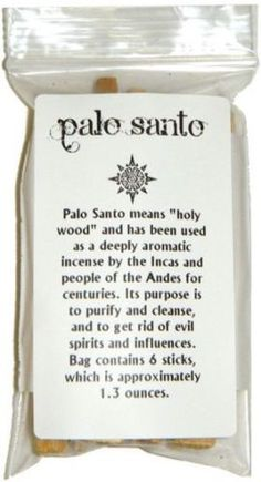 6-Six-Sticks-Pieces-of-Palo-Santo-Holy-Wood-approx-4-per-piece-Incense