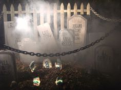 Halloween decorating ideas: This would be great for my son to add to his front yard.  The chains and dry ice would work great. Outdoor Halloween, Halloween Projects, Diy Halloween Decorations, Halloween House, Holidays Halloween, Spooky Halloween, Happy Halloween, Halloween Party, Halloween Ideas