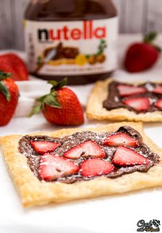 3 Ingredient Strawberry Nutella Tart made using store bought Puff Pastry is an easy breakfast to whip up this Mother's Day!