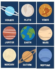Solar System Planets Wall Decor, Wall Art Prints , Ten Piece for Toddler, Nursery Room Art prints, Outer space planets themed room or Solar System Art, Solar System Model, Solar System Planets, Solar System Projects For Kids, Decor Planet, Systems Art, Space Planets, All Planets, Wall E