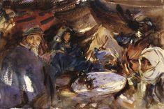 The Athenaeum - Arab Gypsies in a Tent (John Singer Sargent - ) Brooklyn Museum, 1905