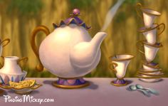 The teacup/pot and rose combo, with the teacup/pot looking more like Mrs. Potts and Chip :)