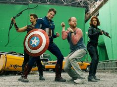 Earth's Mightiest Hero.... And Captain America, Hawkeye, and Black Widow. :)