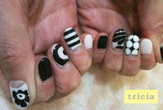 nail designs monotone