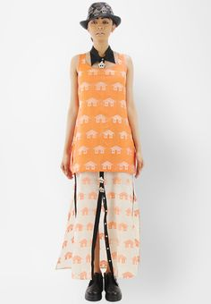 Debashri Samanta Fully Handwoven Double Layered Dress With Cut-Out Collar