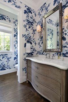 Powder Room Design, Cool Wallpaper, Brick, Future, Mirror, Bathroom, House, Inspiration, Home Decor