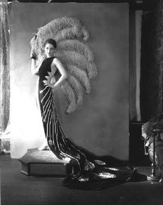 art deco dress. The feather fan reminds me of Phryne's stint undercover as Lulu Lorita.