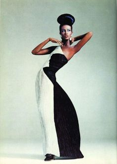 Iman photographed by Steven Meisel for New York Times Fashion in 1983