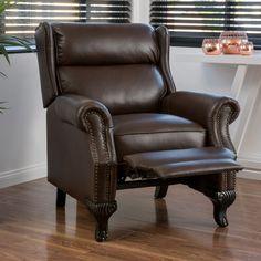 Curtis Dark Brown Leather Recliner Club Chair & Cromwell Leather Recliner | Recliners | Ethan Allen Ideas ... islam-shia.org