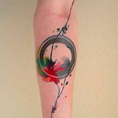 watercolor abstract tattoo - 60 Mind Blow Abstract Tattoos  <3 <3
