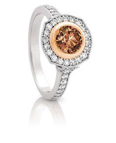 Gorgeous Australian Chocolate Diamond from the Argyle Mine ring.  $4950