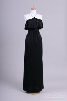 7da69f432cd Vintage Roberta of California 1970s Black Rhinestone Encrusted Buy Wedding  Dress Online