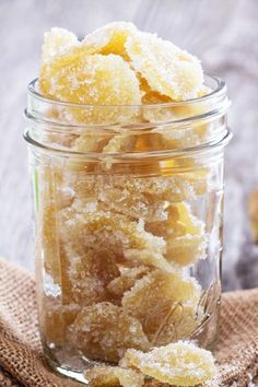 Easy 3 Ingredient Homemade Candied Ginger and Ginger Syrup Recipe - syrup can be used to make homemade ginger ale, sweeten tea, or on waffles or ice cream.