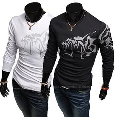 2013 Mens wear long sleeve T-shirt cotton T-shirt cultivate ones morality fashion tattoo design T-shirt M - XXL