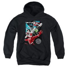 Justice League of America - Galactic Attack Youth Pull-Over Hoodie