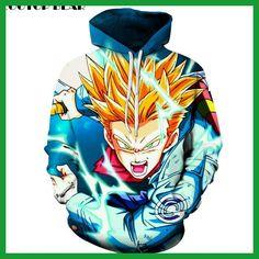 Dragon Ball Hoodies Men Women 3D Sweatshirts Boy Jackets Hooded Pullover Novelty Streetwear Anime Brand Hoodie ZOOTOP BEAR