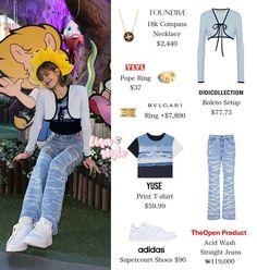 Korean Girl Fashion, Blackpink Fashion, Kpop Fashion Outfits, Fashion Dresses, Looks Teen, Lisa, Pink Outfits, Dance Outfits, Aesthetic Clothes