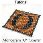 Beaded Coaster Letter O Beading Pattern