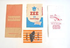 A Collection A Day: Paper bag ephemera