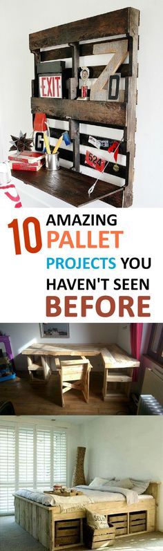 10 Amazing Pallet Projects You Haven't Seen Before!