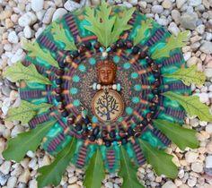 I like this nature inspired tribute to the Mandala. Eclectic Witch, Indian Language, World Peace, Simple Shapes, Mandala Art, Cosmic, Buddha, Graffiti, Arts And Crafts