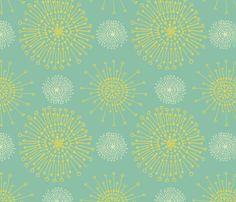 dandelions_citrus_breeze fabric by teresamagnuson on Spoonflower - custom fabric