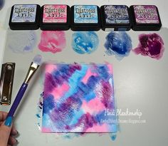 Creating Designer Papers with Distress Inks and Distress Markers