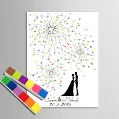 Personalized Fingerprint Wedding Guest Book Tree Alternatives Wedding Fingerprint Tree Guestbook DIY Wedding Signature Book in DIY Wedding Decoration Wedding Tree Guest Book, Guest Book Tree, Tree Wedding, Gift Wedding, Wedding Fingerprint Tree, Baby Photo Frames, Signature Book, Tie The Knot Wedding, Top Wedding Trends