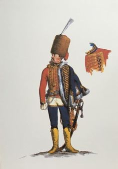 Prussia; 2nd Hussars, Officer, c.1750 by Adolph Menzel